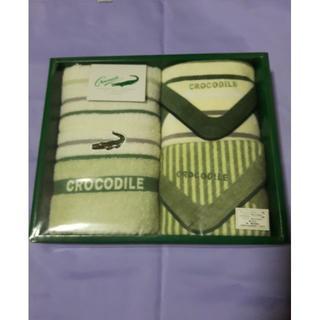 クロコダイル(Crocodile)のクロコダイル ウォッシュタオル×1 プチタオル×2(タオル/バス用品)