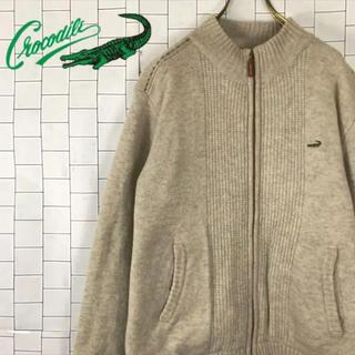 クロコダイル(Crocodile)の希少 クロコダイル ウールジャケット 中綿 ジップアップ ベージュ(ブルゾン)