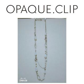 オペークドットクリップ(OPAQUE.CLIP)のOPAQUE.CLP オペークドットクリップ ネックレス 2連 ビジュー(ネックレス)