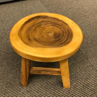 ウッドスツール 切り株スツール アカシア製 ラウンドスツール 木製(スツール)
