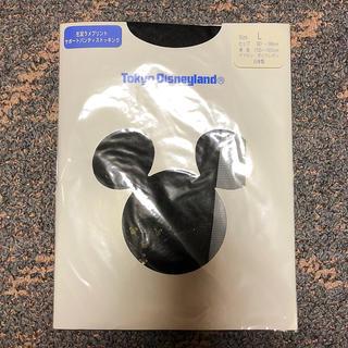 ディズニー(Disney)の東京ディズニーランド購入 ストッキング Lサイズ 黒(タイツ/ストッキング)