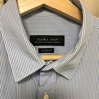 ザラ(ZARA)のZARA オーバーサイズストライプシャツ(シャツ)
