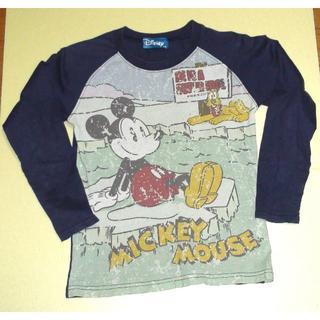 ディズニー(Disney)のディズニー ミッキーの長袖Tシャツ サイズ130(Tシャツ/カットソー)