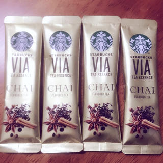 スターバックスコーヒー(Starbucks Coffee)のスターバックス チャイ4本!(茶)