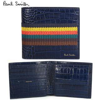 86fd86b00839 ポールスミス(Paul Smith)のポールスミス メンズ 二つ折り財布 クロコレザー ダーク
