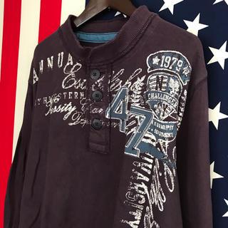 アリゾナ(ARIZONA)のUSA古着 ダメージ ロンT L(Tシャツ/カットソー(七分/長袖))