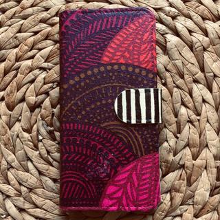 マリメッコ(marimekko)の❤︎訳あり❤︎iPhone7.8 ハンドメイド マリメッコ 手帳携帯ケース(iPhoneケース)