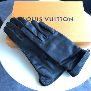 ルイヴィトン(LOUIS VUITTON)の【未使用】LOUIS VUITTON  ルイ ヴィトン レザー 手袋  ダミエ(手袋)