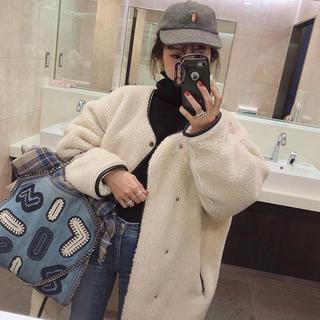 ハイク(HYKE)の【mite long boa coat】ボアコート (ロングコート)