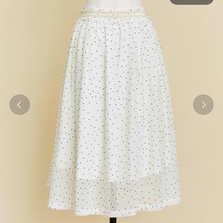 ノエラ(Noela)のノエラ ラメシフォンボリュームスカート(ひざ丈スカート)