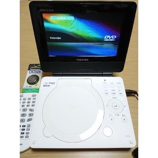 トウシバ(東芝)のTOSHIBA REGZA ポータブルDVDプレーヤー SD-P76SW(DVDプレーヤー)
