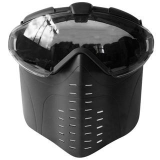 ファン 付き ゴーグル マスク フェイスマスク サバゲー サバゲ サバイバル 黒(個人装備)