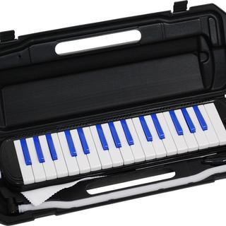 送料無料!鍵盤ハーモニカ ブラック/ブルー(その他)