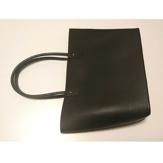 MUJI (無印良品) - ヌメ革トートバッグ 黒 無印良品