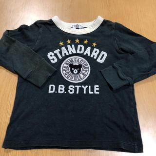 ダブルビー(DOUBLE.B)のダブルビー ロンT 黒 100 110(Tシャツ/カットソー)