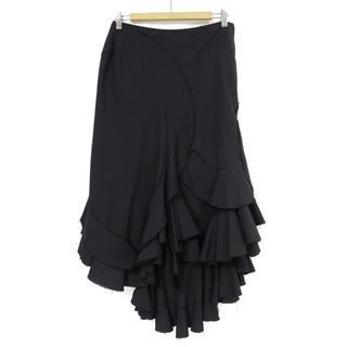 ジュンヤワタナベコムデギャルソン(JUNYA WATANABE COMME des GARCONS)のジュンヤワタナベ ウール ラッフル フリル アシンメトリー スカート(ロングスカート)