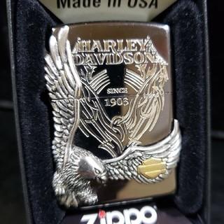 ジッポー(ZIPPO)の厳選中古❤15D'Zippoハーレー プレミアモデル❤銀メタル❤送料無料❤(タバコグッズ)