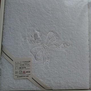 ハナエモリ(HANAE MORI)のHANAE MORI フェイスタオル2枚組(白)(タオル/バス用品)