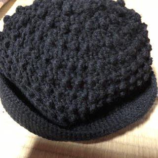 ハンドメイド   ニット帽(帽子)
