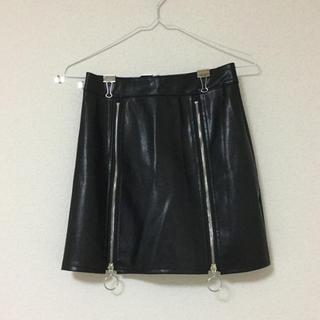 スピーガ(SPIGA)のレザーミニタイトスカートスカート(ミニスカート)