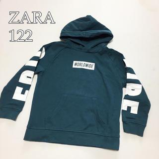 ザラキッズ(ZARA KIDS)の120cm*ZARA プリント パーカー フード付き スポーティー トレーナー(Tシャツ/カットソー)