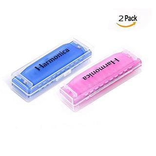 OFKPO 子供用ハーモニカ 2色セット 10穴20トーン Cのキー  楽器玩具(ハーモニカ/ブルースハープ)