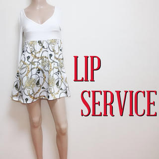 LIP SERVICE - 爆安♪リップサービス チェーン柄 ストレッチチュニック♡リエンダ リゼクシー