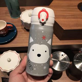 スターバックスコーヒー(Starbucks Coffee)の海外 スターバックス クリスマス ハスキー サーモス ステンレスタンブラー(タンブラー)