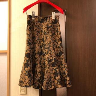 インディヴィ(INDIVI)のINDIVI マーメイドライン花柄スカート(ひざ丈スカート)