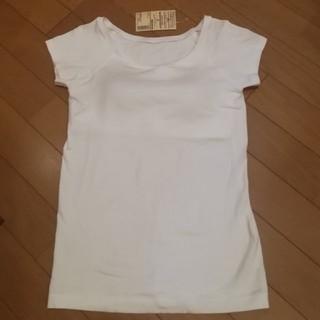 MUJI (無印良品) - 無印良品 シルク入り カップ付きフレンチスリーブTシャツ
