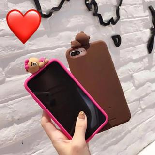 【❤︎かわいい❤︎】LINE チョコ(ピンククマ) iPhone X/XS