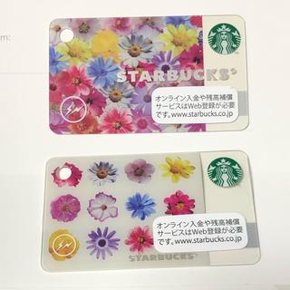 スターバックスコーヒー(Starbucks Coffee)の新品 スタバ ミニカード fragment フラグメントデザイン 2枚組(フード/ドリンク券)