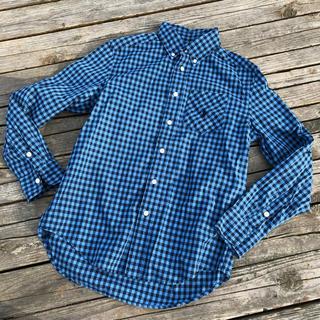 Ralph Lauren - 超美品(๑˃̵ᴗ˂̵) ラルフローレン 青ブロック チェックシャツ