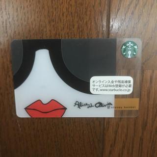 スターバックスコーヒー(Starbucks Coffee)のAlice and Olivia スターバックスカード(フード/ドリンク券)