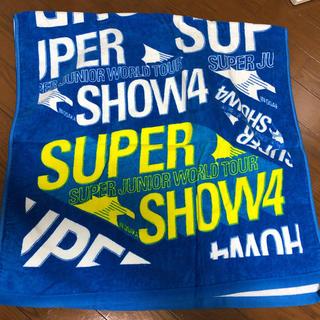 スーパージュニア(SUPER JUNIOR)のSUPERSHOW4 バスタオル(アイドルグッズ)