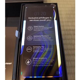 SIMフリー GalaxyNote9 ほぼ新品