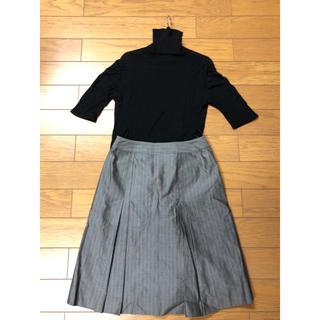 シーケーカルバンクライン(ck Calvin Klein)のシルクカットソー、カルバンクラインスカート(ひざ丈スカート)
