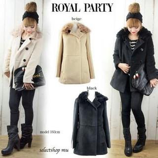 ロイヤルパーティー(ROYAL PARTY)のロイパ フォックス パッチ襟 コート(毛皮/ファーコート)