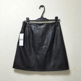 ジーユー(GU)のGU レザースカート(ミニスカート)
