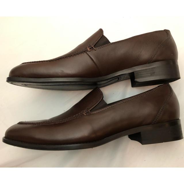 SELECT(セレクト)の一度のみ使用  本革 スーツセレクト  ビジネス ドレスシューズ ダークブラウン メンズの靴/シューズ(ドレス/ビジネス)の商品写真
