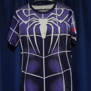 アンダーアーマー(UNDER ARMOUR)の海外限定モデル 美品 スパイダーマン ヒートギア シャツ マーベルアベンジャーズ(Tシャツ/カットソー(半袖/袖なし))