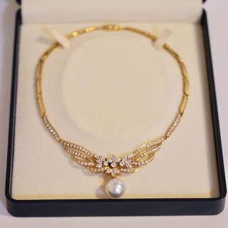 タサキ(TASAKI)の最終値下★TASAKI 豪華5カラット ダイヤモンド パール K18ネックレス(ネックレス)