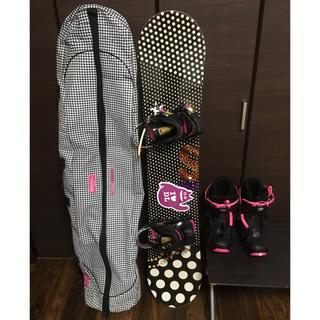 スノーボード レディース セット バインディング ボードケース リーシュコード(ボード)