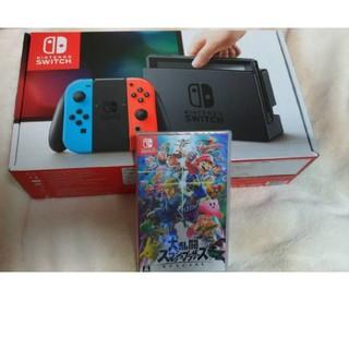 Nintendo switch ネオンブルー/レッド スマッシュブラザーズ