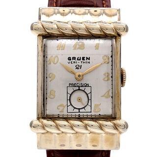 グリュエン ベリシン プレシジョン スモールセコンド アンティーク 335 68(腕時計(アナログ))