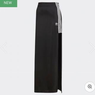アディダス(adidas)のadidas スリット入りスカート 美品(ロングスカート)