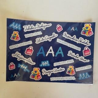 トリプルエー(AAA)のAAAシール(アイドルグッズ)