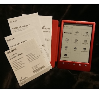ソニー(SONY)のSONY reader PRS-T3S  純正ブックカバー付き(電子ブックリーダー)
