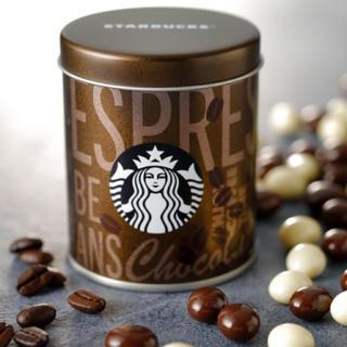 スターバックスコーヒー(Starbucks Coffee)のスターバックス エスプレッソ ビーンズ チョコレート 缶 (菓子/デザート)