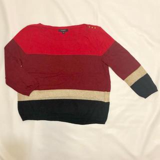 アクサラ(AXARA)のアクサラAXARA七分袖ニットセーターXS 赤(ニット/セーター)